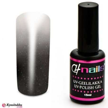 CH Nails Thermo Geelilakka Anthracite-White Metallic