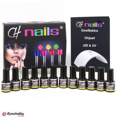 CH Nails Premium Geelilakat 20+2 kpl