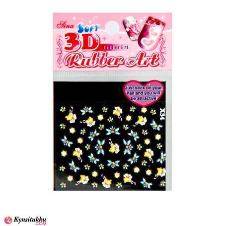 3D Nail Sticker X34