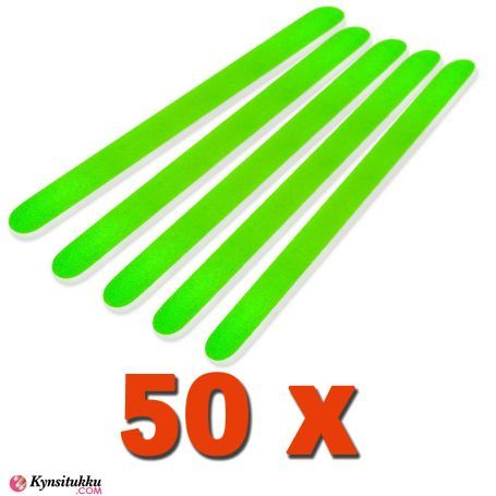 Professional Kynsiviila Suora Neon Vihreä 180/240 50kpl pakkaus