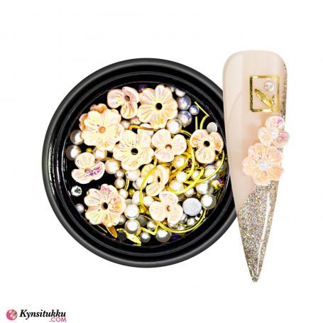 3D Pearls Flower Mix Rose