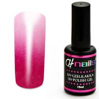 CH Nails Thermo Geelilakka Magenta-White Metallic