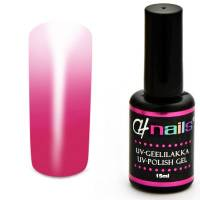 CH Nails Thermo Geelilakka Magenta-White