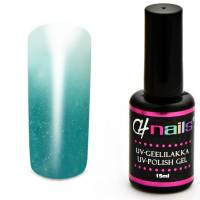 CH Nails Thermo Geelilakka Turkoosi-White Metallic