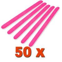 Professional Kynsiviila Suora Neon Pink 180/240 50kpl pakkaus