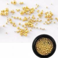 Nail Decoration Pearls Gold